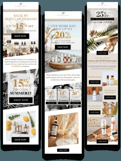 Ao Organics - Email Campaign Examples - Karizma Marketing