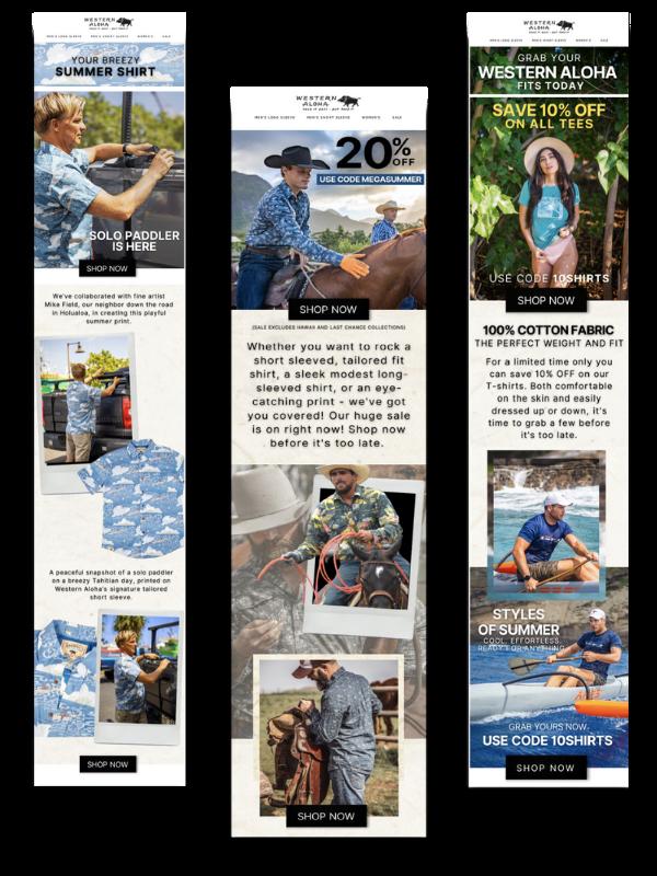 Western Aloha - Email Marketing Agency - Sample Emails