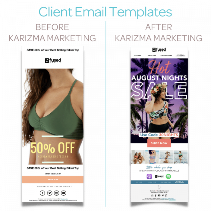 Before and After Karizma Marketing - Email Campaign Templates